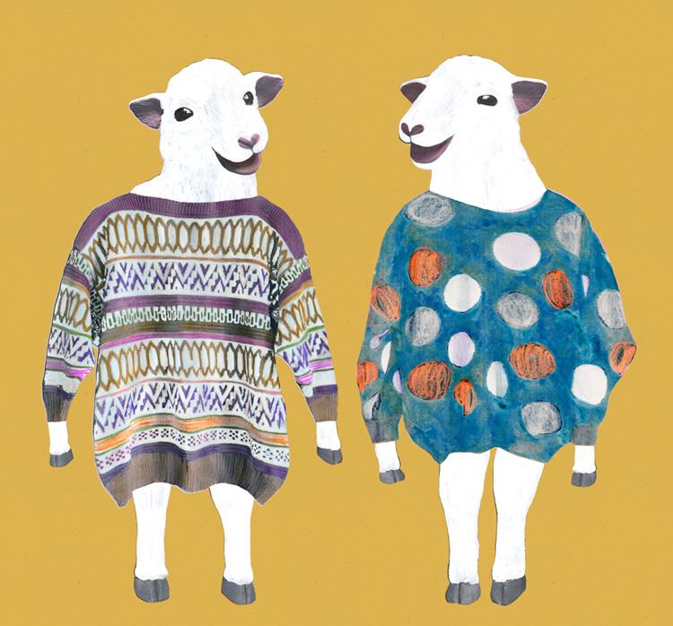 cheap sweaters schapen schaapjes schaap trui truien kleren cheep sheep illustrator illustraties veronique de jong maastricht grafisch ontwerper vormgever tekening illustrator
