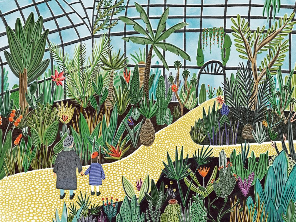 botanical garden walk veronique de jong illustration