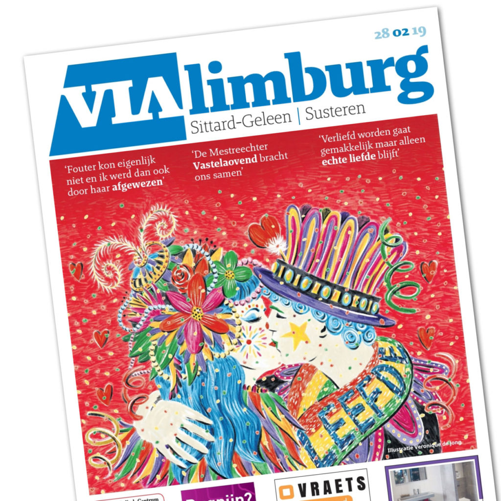 veronique de jong illustration carnaval limburg vasteloavend cover newspaper