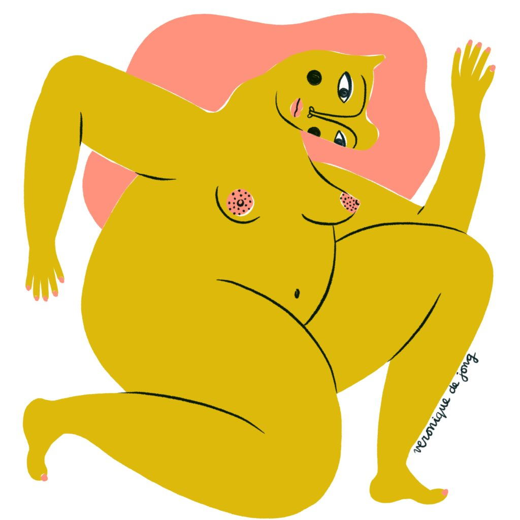 veronique de jong illustration nude series