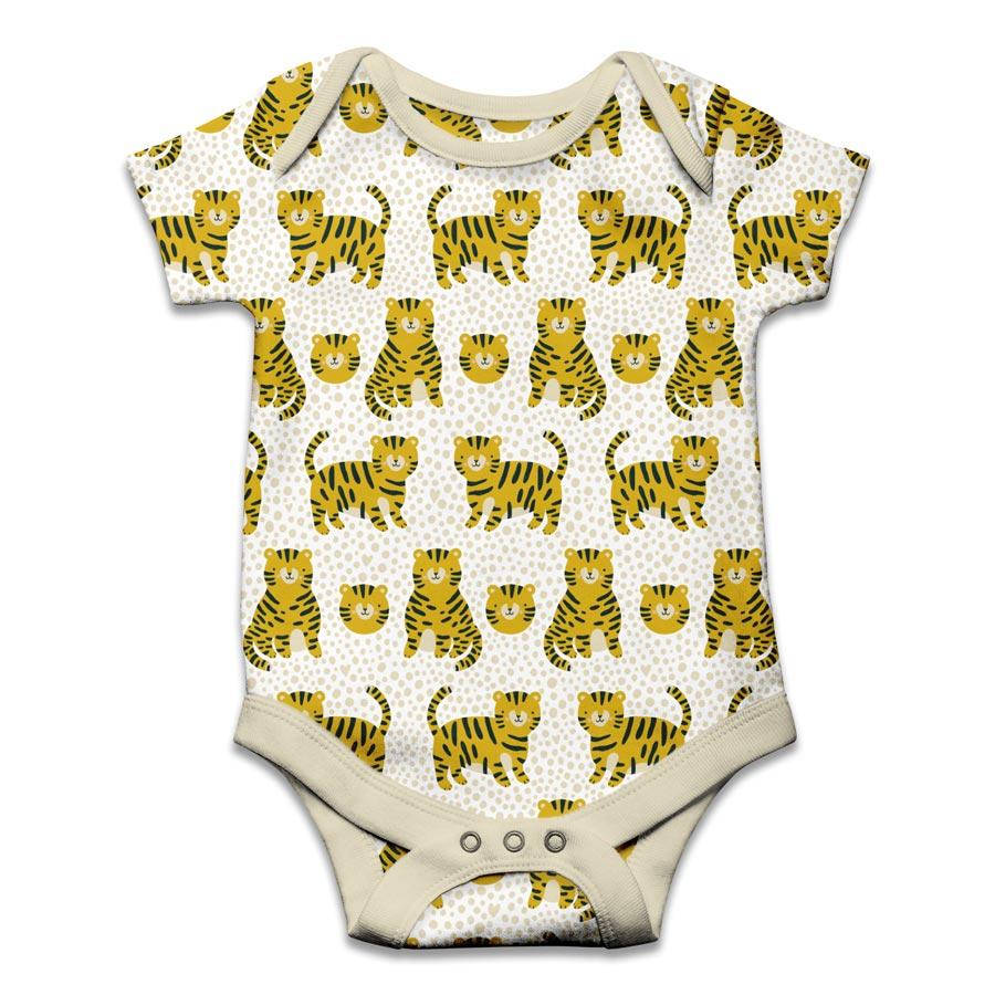 Baby Animals Apparel veronique de jong pattern design illustration all over surface romper