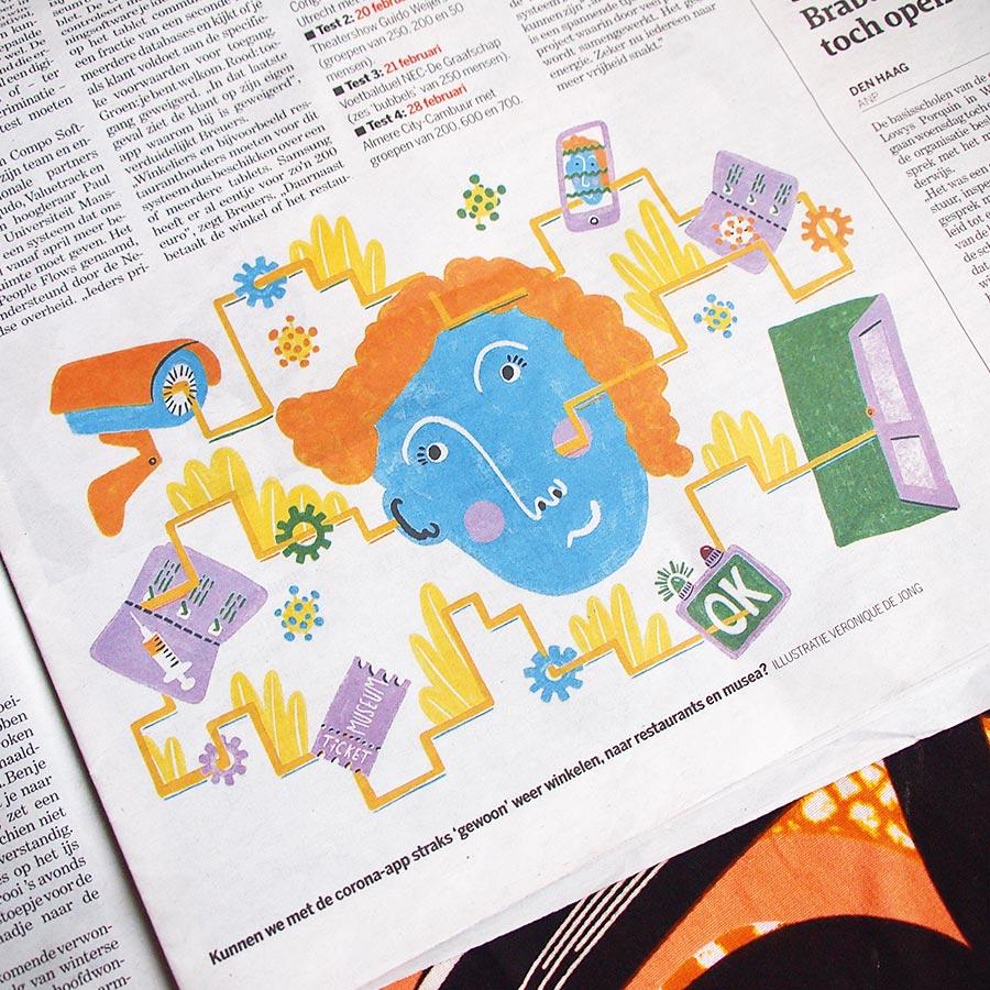 veronique de jong corona covid 19 app compo software margrate de limburger newspaper