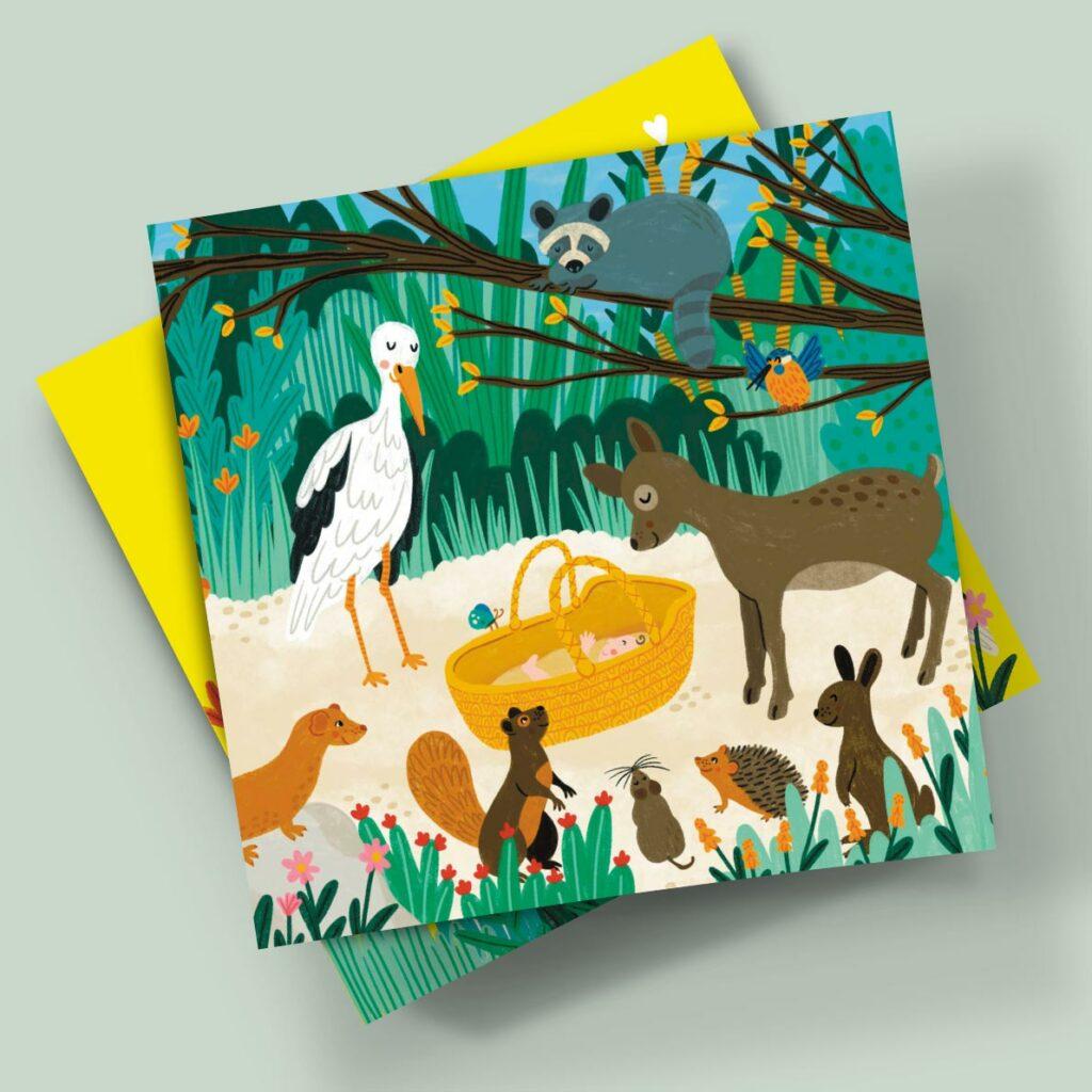 birth card veronique de jong illustration geboortekaartje