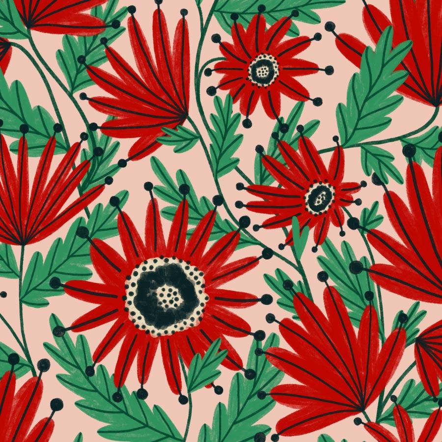 veronique de jong pattern design illustration all over surface romper