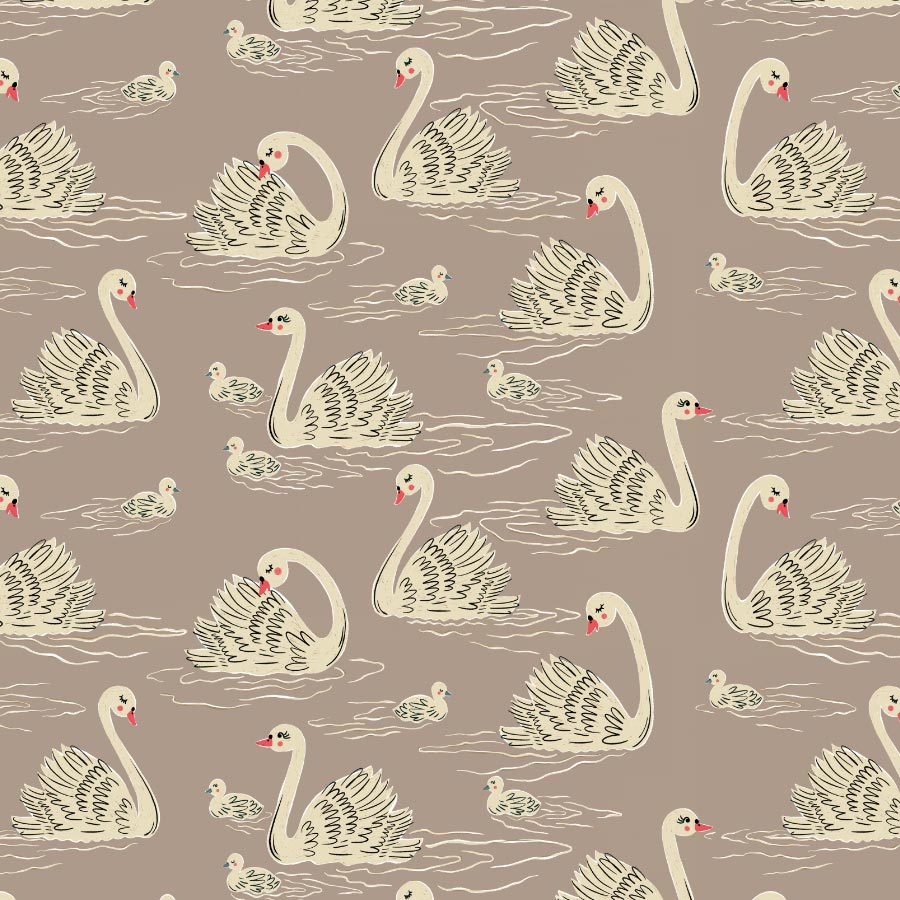 veronique de jong swan lake love pattern design illustration