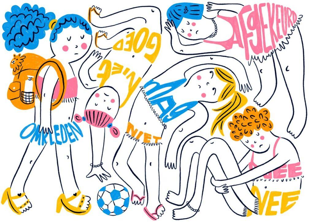 veronique de jong editorial illustration de limburger newspaper krant hans straus