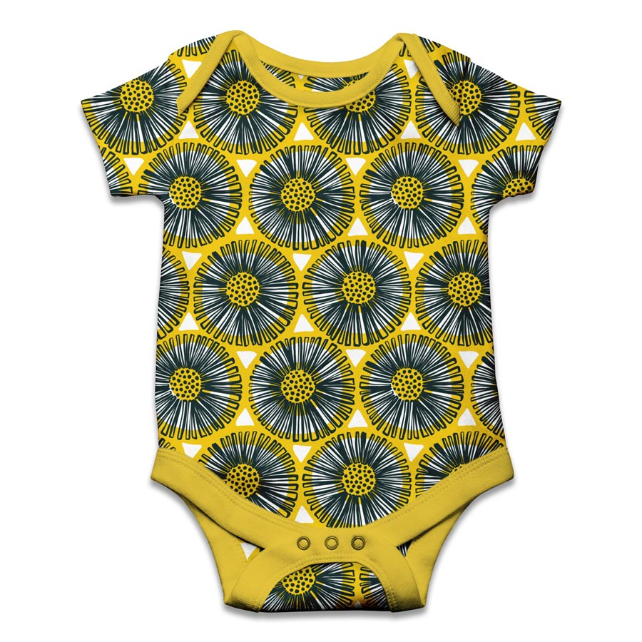 veronique de jong sunflower fabric design illustration textile