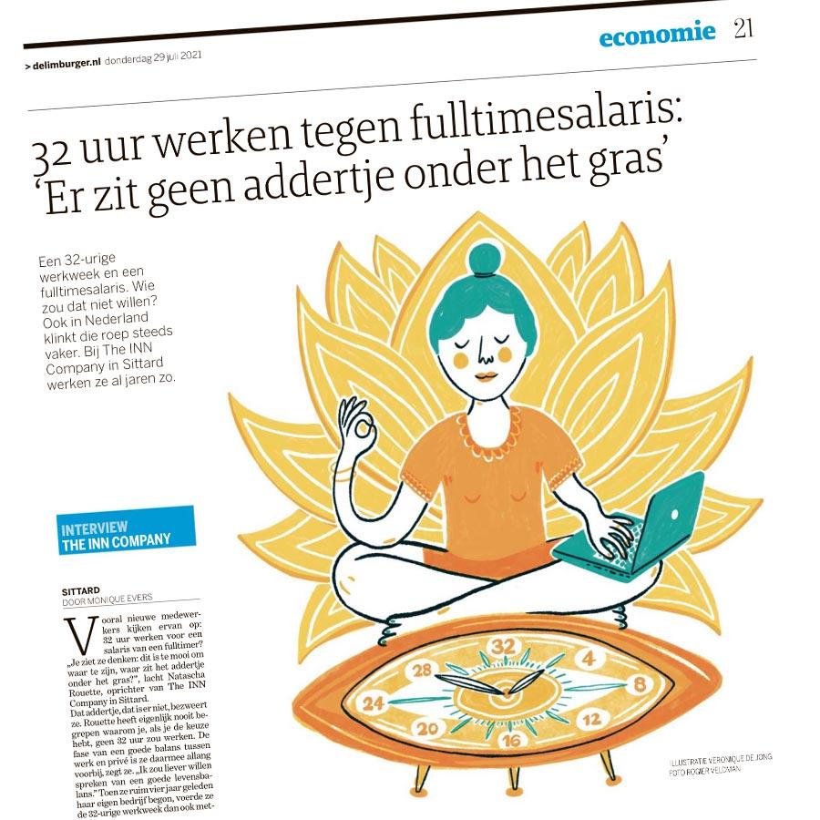 veronique de jong illustration work in balance newspaper delimburger